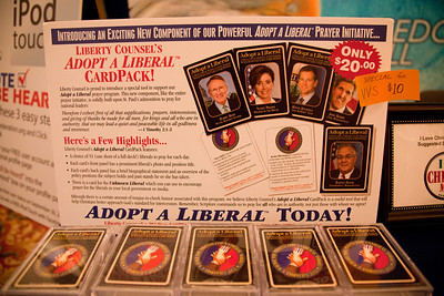 "Liberty Counsel's Adopt a Liberal Card Pack - ""A choice of 51 (one short of a full deck)"""