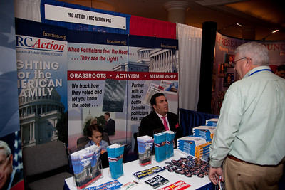 Socially conservative organization's such as The Family Research Council exhibited at the Values Voter Summit in Washington DC on September 17, 2010.  The event was sponsored by the Family Research Council. (Photo by Jeff Malet).
