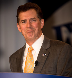 Senator Jim DeMint (R-SC) speaks at the Values Voter Summit on Friday, Sept 14, 2012 in Washington DC. The annual gathering of Christian conservatives and elected officials is a joint production of the Family Research Council and other social conservative groups. Gay marriage, abortion, religion and the upcoming presidential election dominated the discussion. (Photo by Jeff Malet)