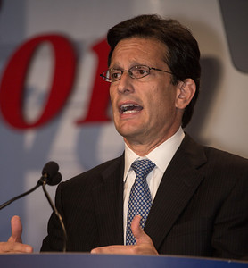 House Majority Leader Eric Cantor (R-VA) speaks at the Values Voter Summit on Friday, Sept 14, 2012 in Washington DC. The annual gathering of Christian conservatives and elected officials is a joint production of the Family Research Council and other social conservative groups. Gay marriage, abortion, religion and the upcoming presidential election dominated the discussion. (Photo by Jeff Malet)