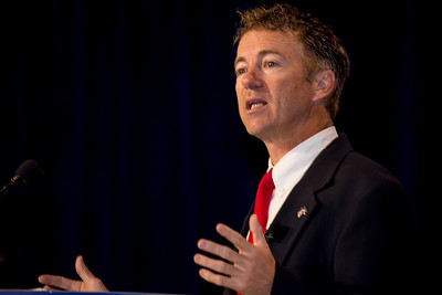 US Senator Rand Paul (R-KY) speaks at the Values Voter Summit on Friday, Sept 14, 2012 in Washington DC. The annual gathering of Christian conservatives and elected officials is a joint production of the Family Research Council and other social conservative groups. Gay marriage, abortion, religion and the upcoming presidential election dominated the discussion. (Photo by Jeff Malet)