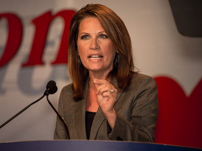 Rep. Michele Bachmann (R-MN) speaks at the Values Voter Summit on Friday, Sept 14, 2012 in Washington DC. The annual gathering of Christian conservatives and elected officials is a joint production of the Family Research Council and other social conservative groups. Gay marriage, abortion, religion and the upcoming presidential election dominated the discussion. (Photo by Jeff Malet)
