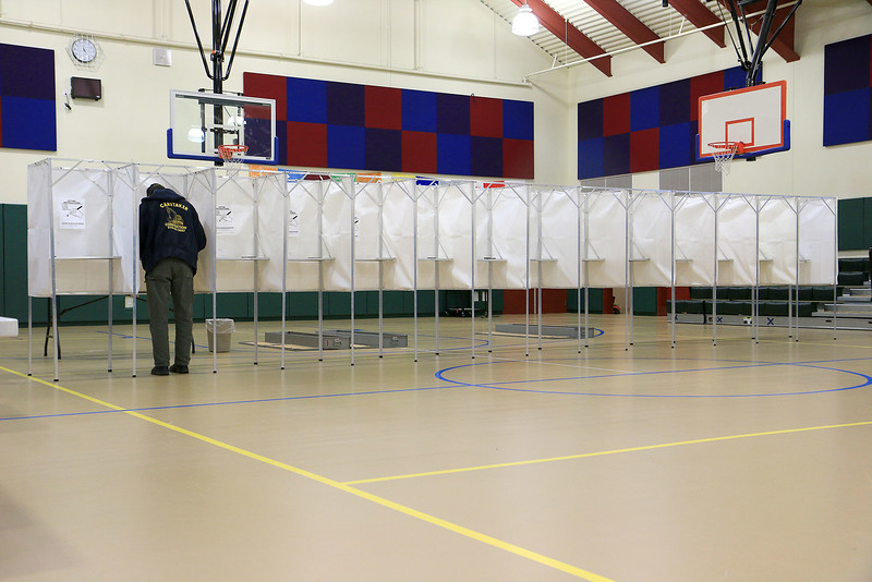 The voter turnout in Ashburnham was low on Tuesday. SENTINEL& ENTERPRISE/JOHN LOVE