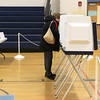 There were not a lot of voters at the polls in Westminster on Tuesday. SENTINEL& ENTERPRISE/JOHN LOVE
