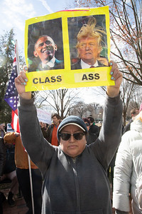 Donald Trump President's Day Protest