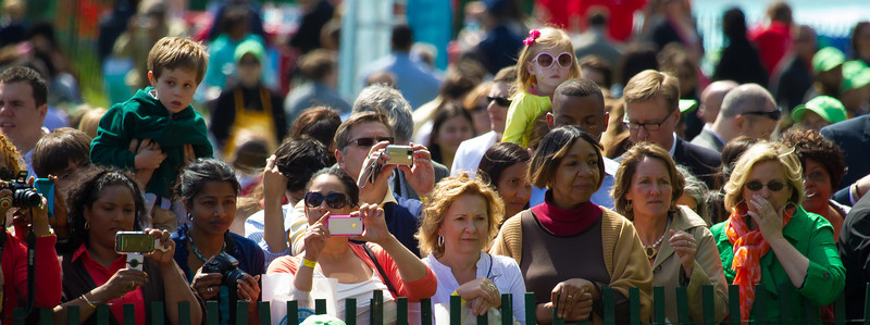 "The 134th annual White House Egg Roll attracted over 30,000 visitors to the White House South Lawn for a day of racing, reading and fun on Monday, April 9, 2012. The theme of this year's egg roll was ""Let's Go, Let's Play, Let's Move!"" which was modeled after the First Lady's ""Let's Move!"" campaign.  (Photo by Jeff Malet)"