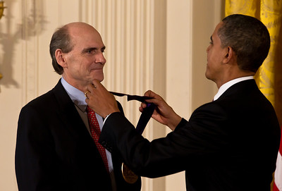 James Taylor The 2010 National Medal of Arts to James Taylor for his remarkable contributions to American music.  His distinctive voice and masterful guitar playing are among the most recognized in popular music and his expansive catalogue of songs has had a profound influence on songwriters and music lovers from all walks of life.