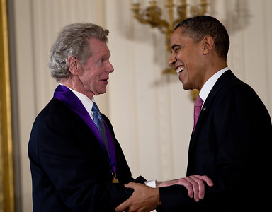 "President Barack Obama awarded a 2010 National Medal of Arts and National Humanities Medal to Van Cliburn for his contributions as one of the greatest pianists in the history of music. President Obama awarded the 2010 National Medal of Arts and National Humanities Medal to 20 honorees in the East Room of the White House on March 2, 2011 in Washington DC. The citation read ""The 2010 National Medal of Arts to Van Cliburn for his contributions as one of the greatest pianists in the history of music, and as a persuasive ambassador for American culture. Since his historic 1958 victory at the first International Tchaikovsky Competition in Moscow, Mr. Cliburn has reached across political frontiers with the universal message of beautiful music.""  (Photo by Jeff Malet)"