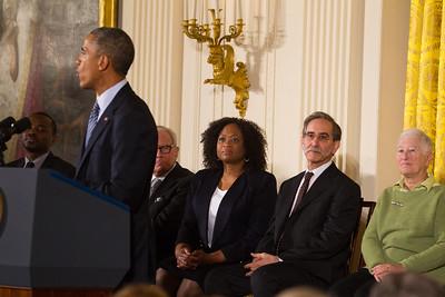 Barack Obama, David Goodman, Rita Bender, Angela Lewis, Andrew Goodman, James Chaney, Michael Schwerner