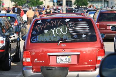 Many many cars had similar sentiments on them