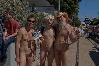 Nude-In @ Castro Commons Plaza 2012