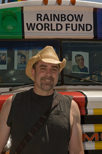 World Rainbow fund on Castro demonstrating against Iraq murder of LGBT people, May 17, 2009