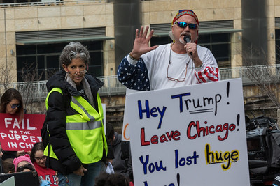 Anti-Trump Protest in Chicago on 2/20/17