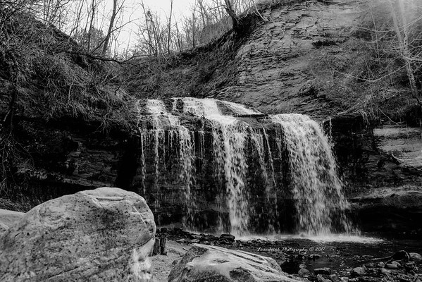 Osceola Falls in Black and White