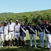 The Yale team in white: Liz Brayboy, Loryn Butterworth, Branden Van Loon (Yale team Coach), Aga Morgan.  The Simsbury team: Julie DeAngelis, Alison Patricelli, Chris Green, Jim DeAngelis.