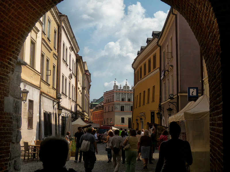 Entering Old Town in Lublin, Polska
