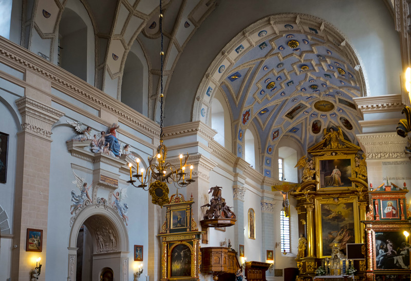 Parish Church of St.. St. John the Baptist. Bartholomew in Kazimierz Dolny, Poland / Kościół farny św. Jana Chrzciciela i św. Bartłomieja w Kazimierzu Dolnym, Polska