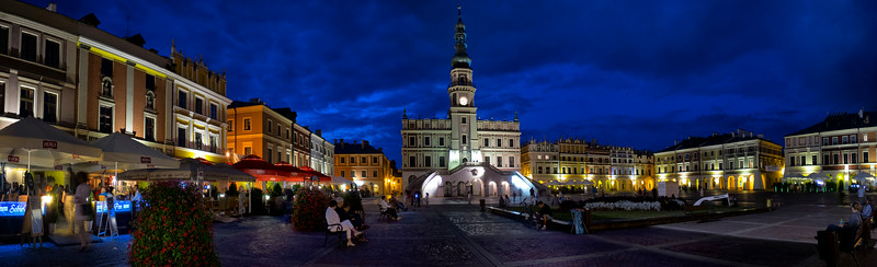 City Hall and the Main Market Square, Zamość, Polska