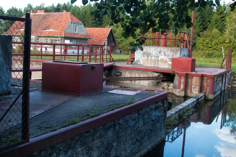 Masurian Canal, Piaski Lock, Polska / Kanał Mazurski, Śluza Piaski, Polska