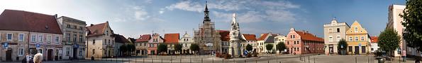 Rynek starego miasta, Rydzyna, Polska / Old Town Market Square, Rydzyna, Polska