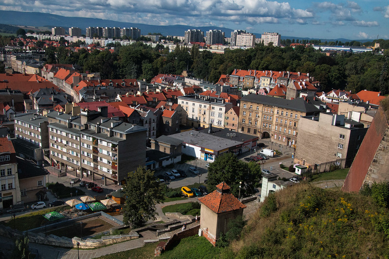 View of the Town of Kłodzko, Polska From the Walls of The Fortress  / Widok Kłodzka z murow twierdzy, Polska