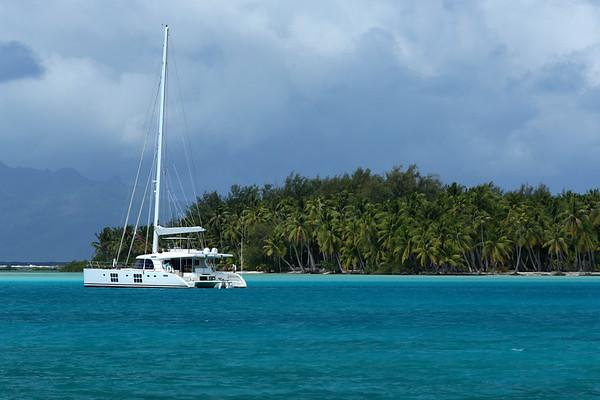 Toopua Island, Raiatea from Bora Bora, Society Islands of French Polynesia