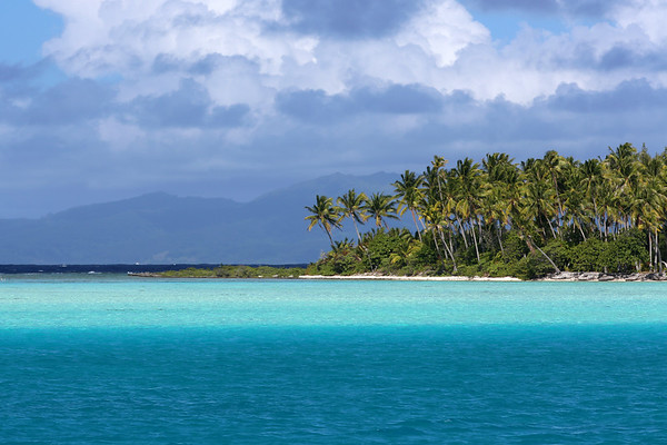 Taurere, Taha'a Island in the Background, Bora Bora, Society Islands of French Polynesia