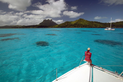 Toopua Island, Mount Otemanu, Bora Bora, Society Islands of French Polynesia