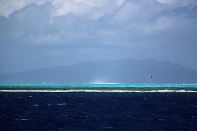 Raiatea from Bora Bora, Society Islands of French Polynesia