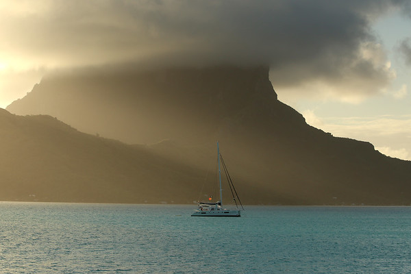 Sunset, Mount Otemanu, Bora Bora, Society Islands of French Polynesia