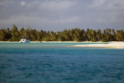 Anchored off Motu Piti Aau, Bora Bora, Society Islands of French Polynesia