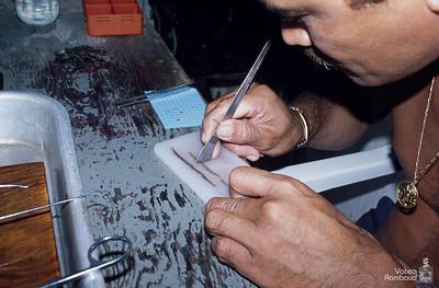 Fakarava 2001 - visite d'une ferme perlière