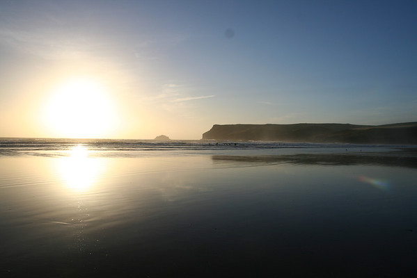 Low Tide at Polzeath Beach