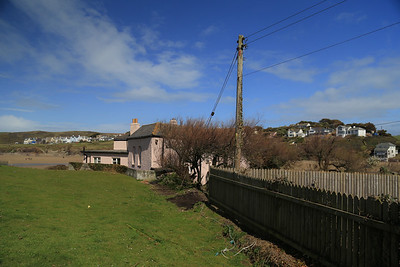 Polzeath House top garden