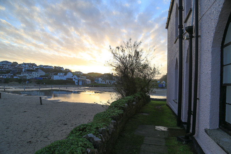 Winter Sunrise in Polzeath village