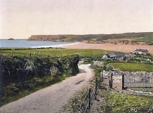 Polzeath Bay in the 1890s