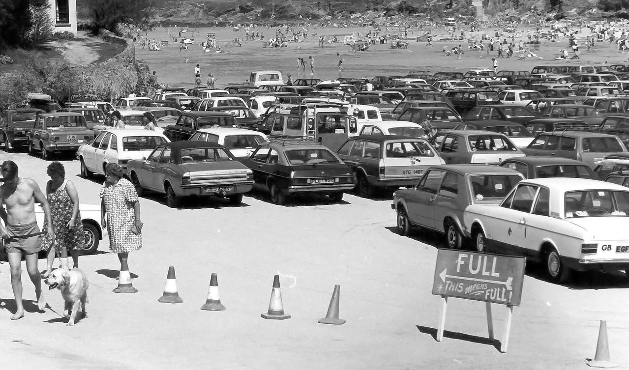 Polzeath Beach car park full