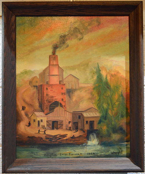 Painting of the Pompton Lakes, NJ Iron Furnace