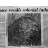 Article about the ruins of the Pompton Furnace