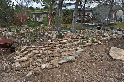 Another view of the emerging dry creek bed.