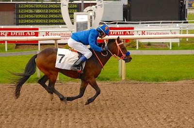 Jeff Åkesson och Too Bright Too vinner SM i ponnygalopp kat B 2012 Foto: Lars Odin