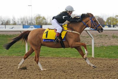 Puma vinner med Victoria L E Perez | Ponnygalopp Jägersro 160424 | Foto: Stefan Olsson / Svensk Galopp