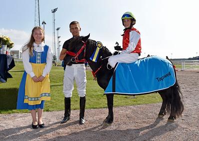 Almnäs Macarena och Alva Eriksson Bro Park 160911 Foto: Stefan Olsson / Svensk Galopp