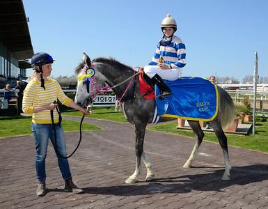 Tuwas Shamal och Annie Lindahl | Dalva Cup kat D | Jägersro 140427 | Foto: Stefan Olsson / Svensk Galopp