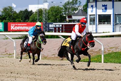 Almnäs Macarena vinner med Amanda Rowe  Jägersro 160814 Foto: Stefan Olsson / Svensk Galopp