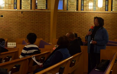 "Educators, parents and Pontiac schools alumni give their take on how the public school system changed their lives at the ""Save Our Public Schools"" community meeting at Newman A.M.E. Church, 233 Bagley St. in Pontiac on Tuesday, Feb. 28, 2017."