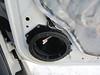 "Passenger side - Speaker adapter bracket  from  <a href=""http://www.car-speaker-adapters.com/items.php?id=SAK055""> Car-Speaker-Adapters.com</a>   mounted to door"