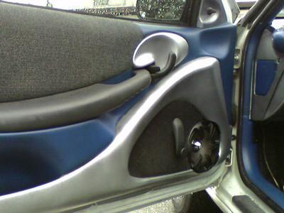 Custom door panel and grill.