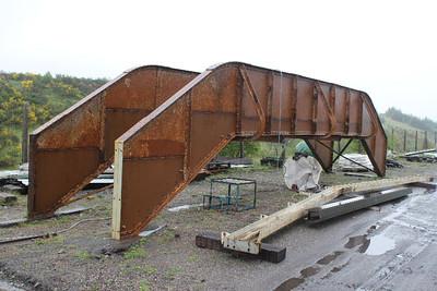 Footbridge under repair on 29.05.10.