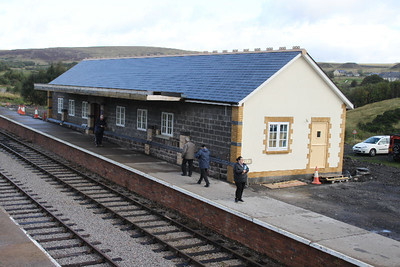 Station Building on Platform One at Furnace Sidings on 17.09.11 - nearly completed.